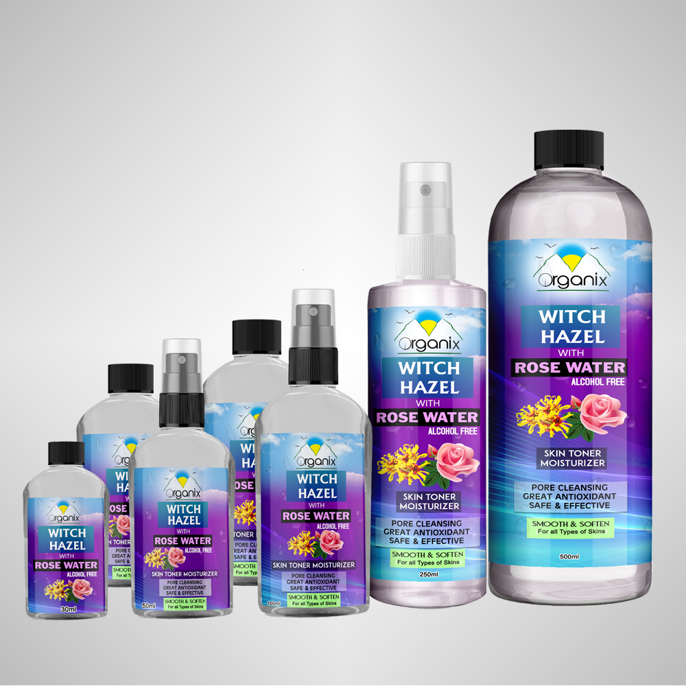 ORGANIX WITCH HAZEL & ROSE WATER | Home of the Cosmetics